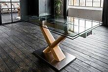 KAWOLA Esstisch Gino Glastisch 160-240cm x 90cm