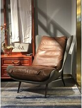 KAWOLA Relaxsessel ERIO, Vintage Leder braun
