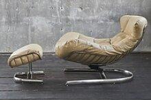 KAWOLA Relaxsessel ROWE Sessel Leder creme (B/H/T)