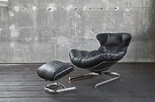 KAWOLA Relaxsessel ROWE Sessel Leder schwarz
