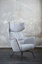KAWOLA Sessel NELA Einzelsessel grau 79x82x117
