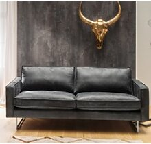 KAWOLA Sofa ALINE, Ledersofa 2,5 Sitzer oder 3,5