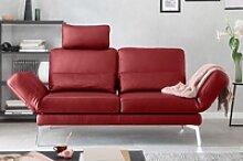 KAWOLA Sofa HURRICANE 2-Sitzer Leder rot