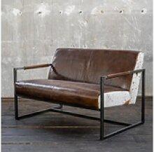 KAWOLA Sofa LIANO, Vintage Leder braun