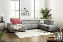 KAWOLA Sofa RISO Wohnlandschaft U-Form Stoff