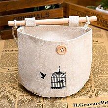 Kaxima Baumwolle Leinen, Wandbehang Tasche, Aufbewahrungstasche, Tür, Wand, Nacht, Hängen Regale, 3 Stück, 16.5x12.5cm