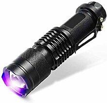 Kaxima LED Taschenlampe UV Prüfung Lampe