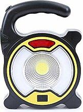 Kaxima Notfall Taschenlampe Outdoor Camping camping Lampe USB aufladen Warnleuchte mit Taschenlampe Multifunktions Laternen Y-Lich