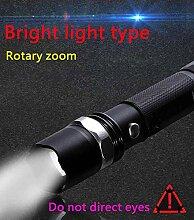 Kaxima USB-Taschenlampe Outdoor-Taschenlampe Taschenlampe starke Licht Langstrecken USB Taschenlampe