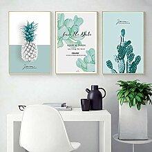 kaxiou Grüne Pflanze Ananas Kaktus Wandkunst
