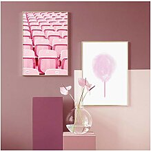 kaxiou Mädchen Room Decor Bild Rosa Zuckerwatte