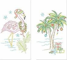 Kay Dee Designs Bestickt Mehl Sack Handtuch Urlaub