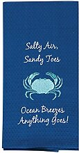 Kay Dee Sole Crab Bestickt Waffle Handtuch