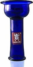 Kaya Shisha Disc 4tex Glaskopf Blau, Vortex Bowl