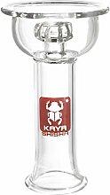 Kaya Shisha Disc 4tex Glaskopf Klar, Vortex Bowl