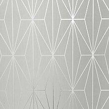Kayla Metallic Geometrische Tapete Dove