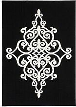 Kayoom FLACHFLOR TEPPICHE KLASSISCH ORIENTAL ORNAMENT TEPPICH SCHWARZ NEU ANGEBOT, Größe:80cm x 150cm