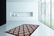 Kayoom Moderne Flachflor Teppich 3D-Effekt