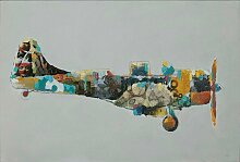 Kayoom Ölbild Flugzeug, 60cm x 90cm B/H/T: 60 cm