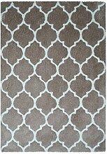 Kayoom Teppich, Baumwolle, Grau amarronado, 80x 18x 18cm