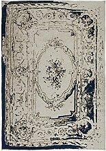 Kayoom Teppich, Baumwolle, Grau und Blau, 80x 13x 13cm