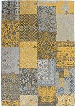 Kayoom Teppich ltkj6–80–150, Baumwolle, Gold, 80x 13x 13cm