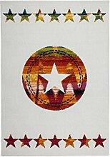 Kayoom Teppich, Stoff, Bunt und Elfenbein, 80x 16x 16cm