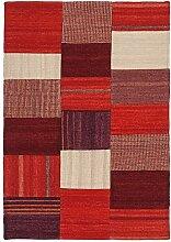 Kayoom Teppich, Stoff, Rot und mehrfarbig, 120x 13x 13cm