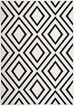 Kayoom Teppich, verschiedene, Elfenbein und Schwarz, 80x 16x 16cm
