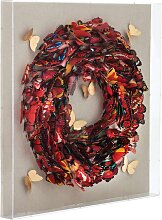 Kayoom Wandbild Schmetterling 80x80 cm bunt