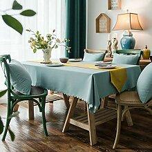 KBG Einfarbige Tischdecke Stoff Staubdichte