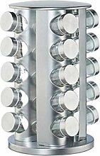 Kbsin212 Gewürzkarussell Mit 20 Gewürzgläsern,