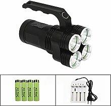 KC Fire High Power XM-L2LED Spot, Welten hellsten Searchlight Fackel & Aluminium-Legierung Taschenlampe–Tragbar und einfach zu tragen