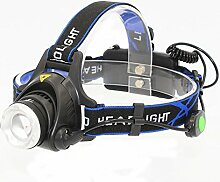KC Fire wiederaufladbar Head LED Taschenlampe, Cree T61000Lumen LED verstellbar Scheinwerfer Taschenlampe für Camping Angeln Radfahren Laufen Walking Outdoor Sicherheit Lich