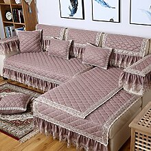 KCHEDFBUOQIFGE Continental Solid Color Sofa Mat