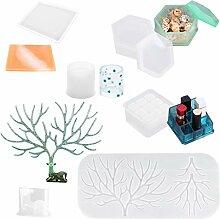 Kcibyvx Silikonform Gie/ßform 3D Crown Aschenbecher Aufbewahrungsbox DIY Handyhalter Silikonform Harz Casting Tools