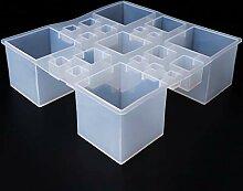 Kcibyvx Gießformen Silikonform Conjoint Cube