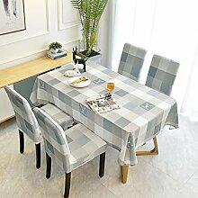 KCLOPY Tischdecke modernen minimalistischen Gitter