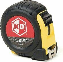 KD Werkzeuge 301225Fuß Maßband (gelb und schwarz Fall)