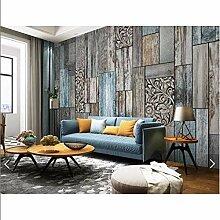 kdbshfm 3D Holz gestreifte Tapete Wandbild für