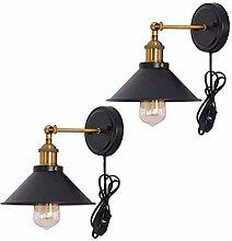 KDBWYC Vintage Wandlampe Verstellbare Wandleuchte