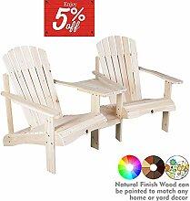 kdgarden Adirondack Stühle aus Zedernholz für