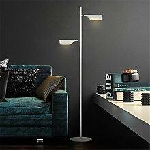 KDLD Stehleuchten ® Stehlampe Modernes Dimmable LED-Fußboden-Lampen-Licht für Wohnzimmer-Schlafzimmer und justierbarer Lampen-Halter-Eisen-Lampen-Körper mit Noten-Schalter (4.5W- Schwarzes)