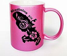 Kdomania Kaffeebecher rosa Glitter Madinina 972