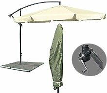 KDS/JOM Metall Ampelschirm Gartenschirm beige 3,5