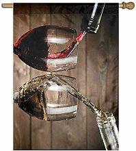 KDU Fashion Banner Flag,Wein Trinkt Glasfahne