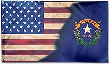 KDU Fashion Flag Banner,Nevada Mit Amerikanischer