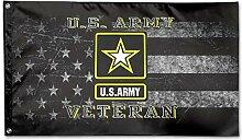 KDU Fashion Home Garden Flags,Armee Veteran Flagge