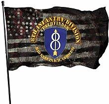 KDU Fashion Outdoor Yard Flag,8. Infanterie Div