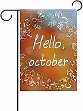 KDU Fashion Seasonal Garden Flag,Hallo Oktober